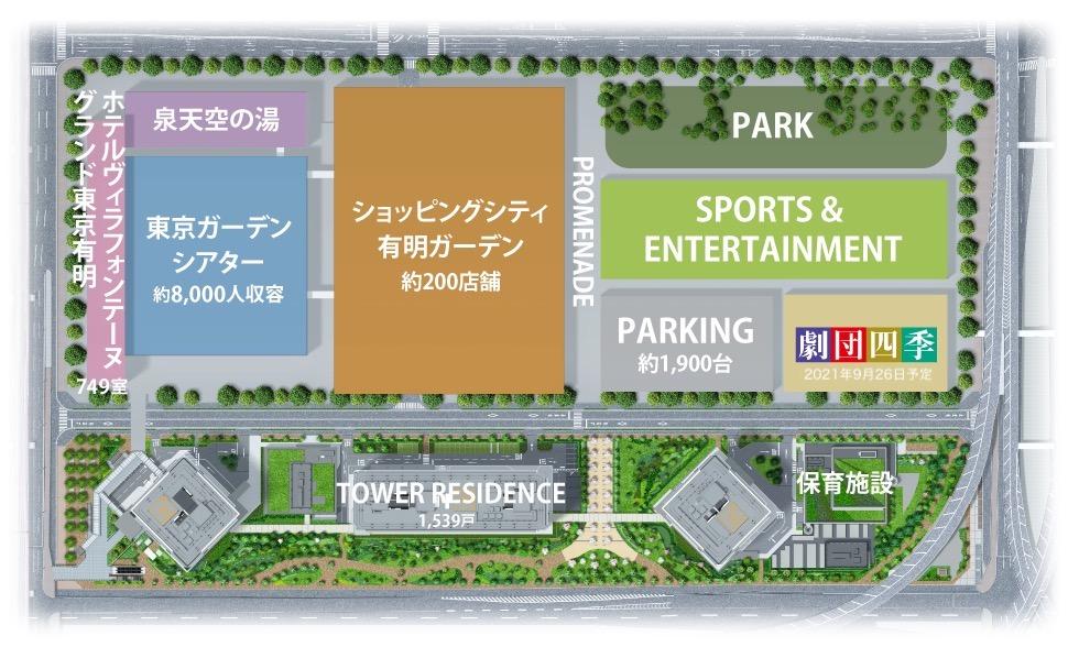 有明ガーデン/東京ガーデンシアター/有明四季劇場 アクセスMAP