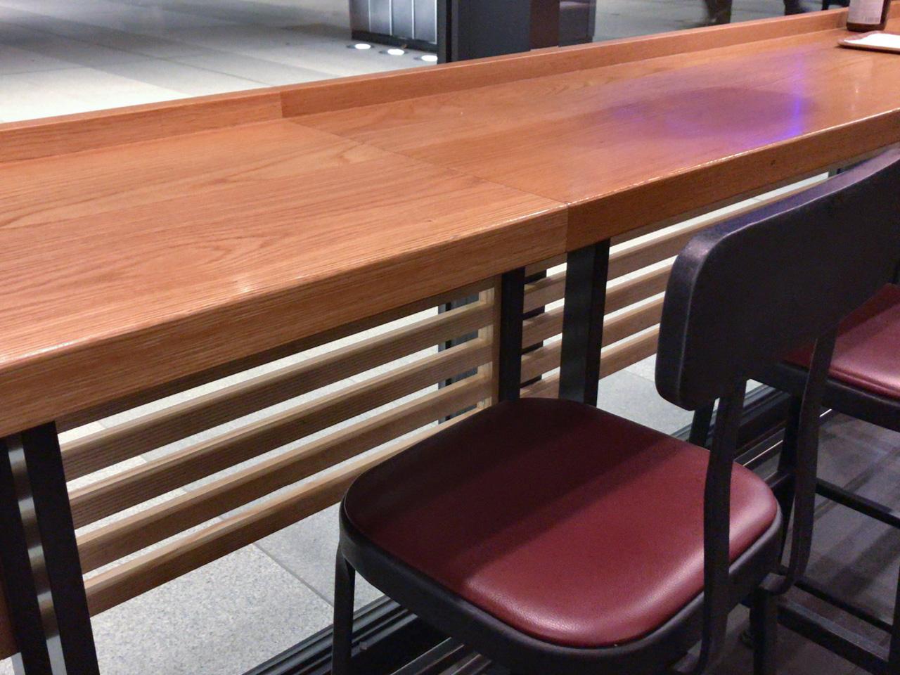 豊洲のスタバはカウンター席にも電源あり