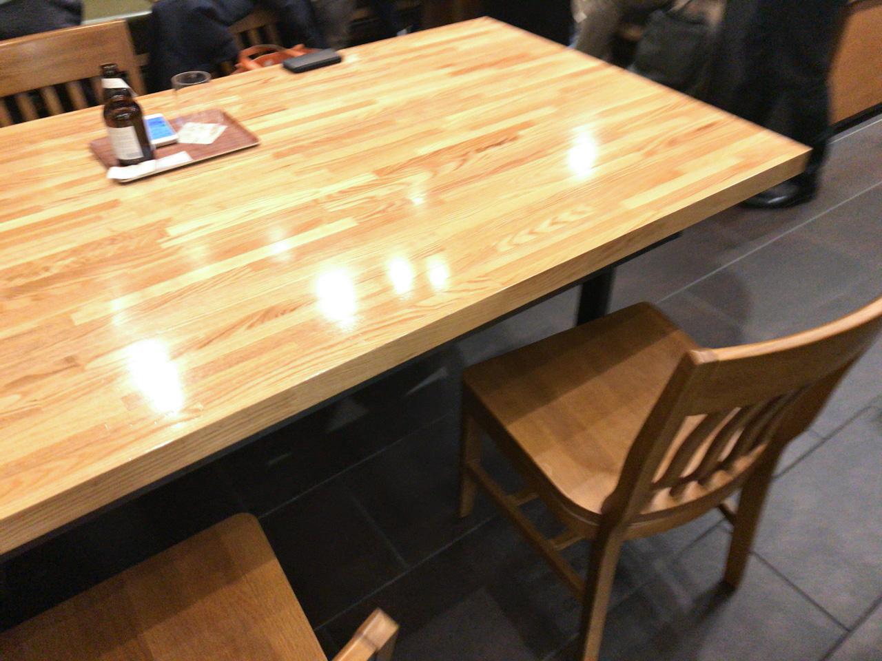 豊洲フォレシアのスタバはテーブル下に電源あり