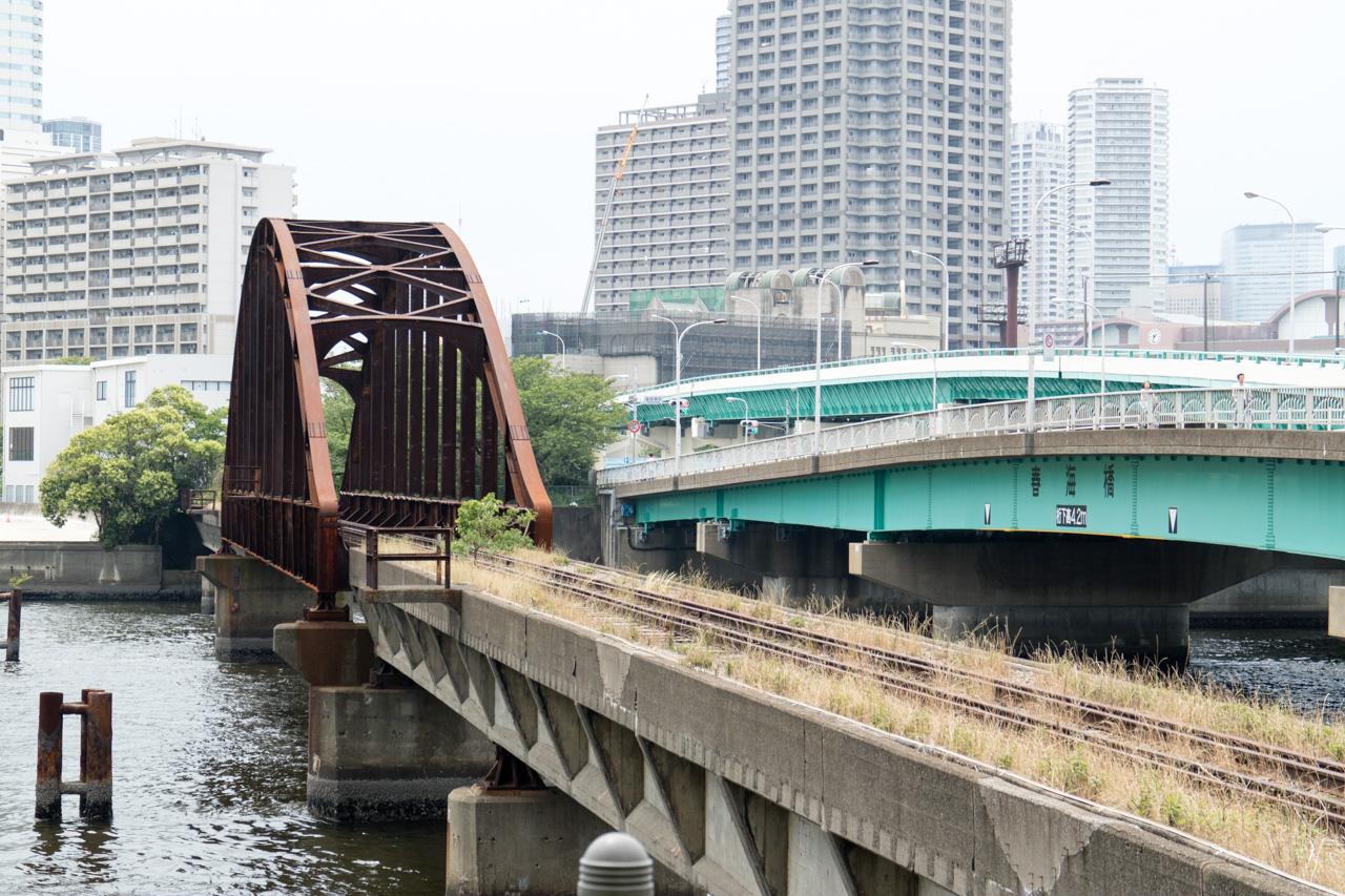 晴海線・春海橋梁(赤橋)