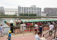 豊洲の運河で「夏の船カフェ2017」、屋形船クルーズに300人の列!秋には東電堀で